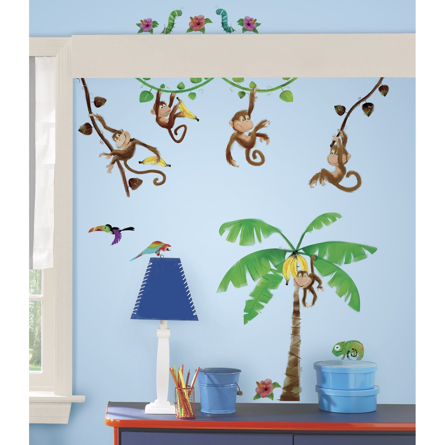 RoomMates Repositionable Childrens Wall Stickers Monkey Business:  Amazon.co.uk: Kitchen U0026 Home Part 4