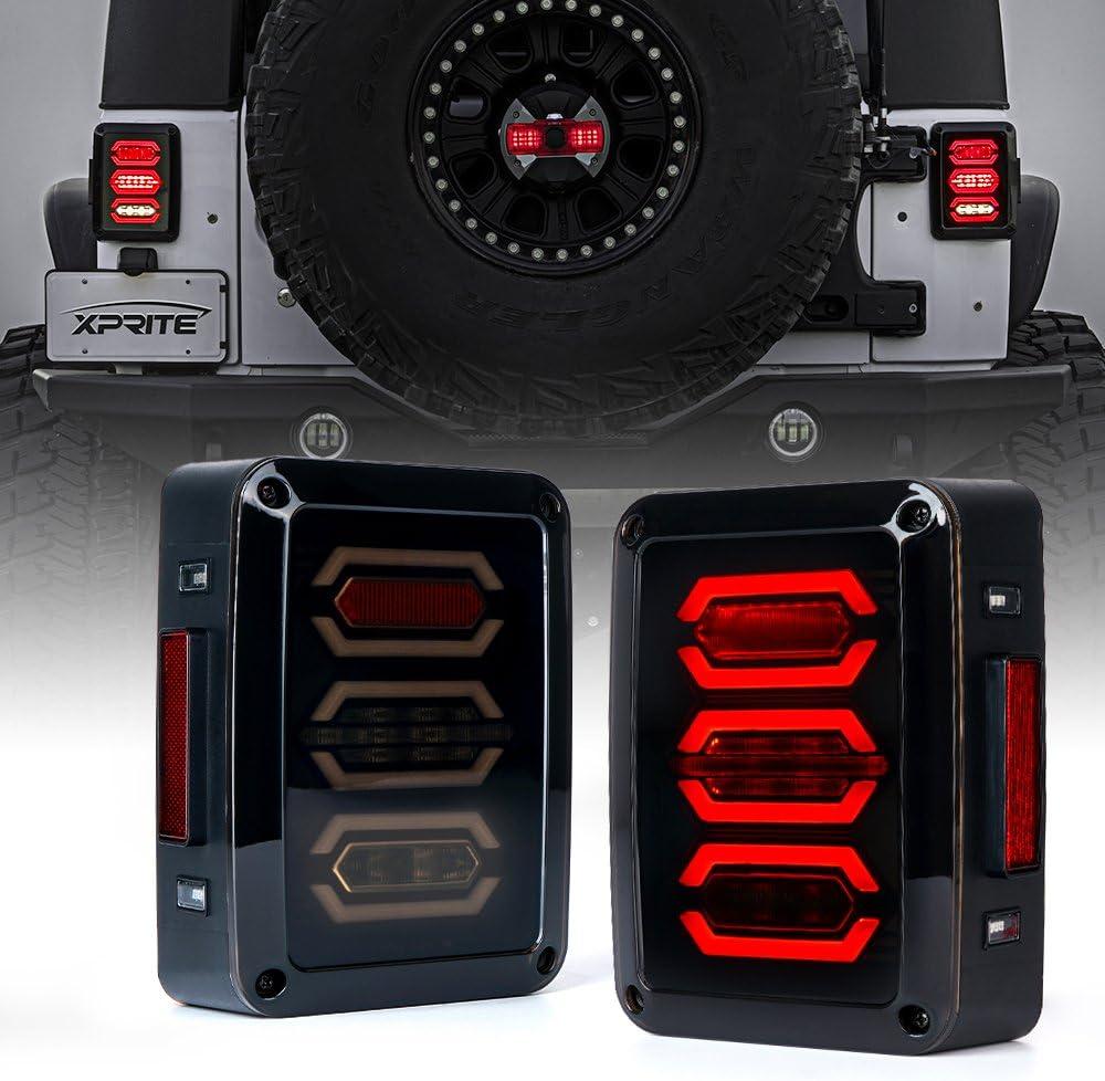 Xprite Led Tail Lights Smoke Lens Red LED