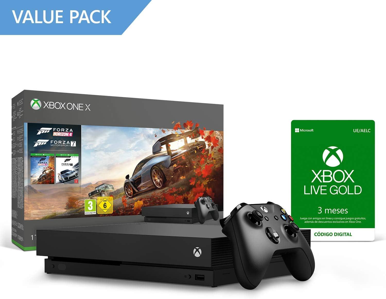Microsoft Xbox One X - Consola 1 TB, Forza Horizon 4 Y Forza ...