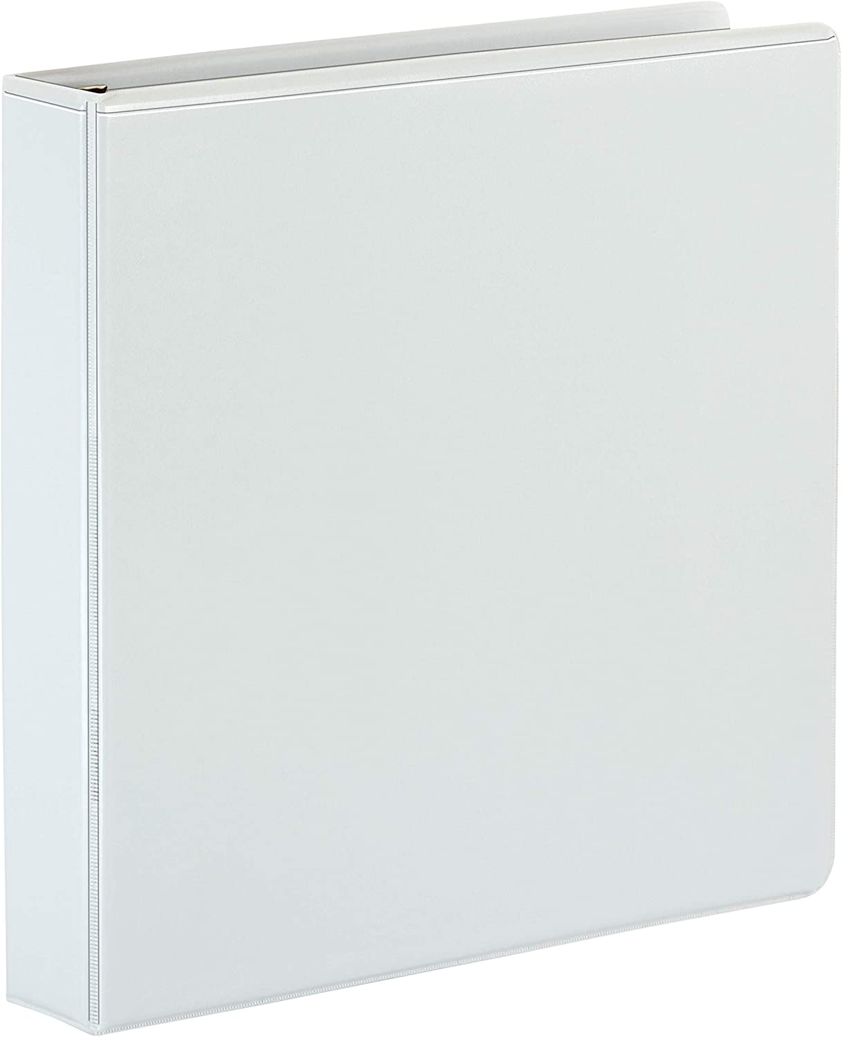 565-Sheet Capacity Cardinal Premier Extra-Wide 3-Ring Binder ONE-Touch Easy Open Locking Slant-D Rings ClearVue Cover White 2 13320