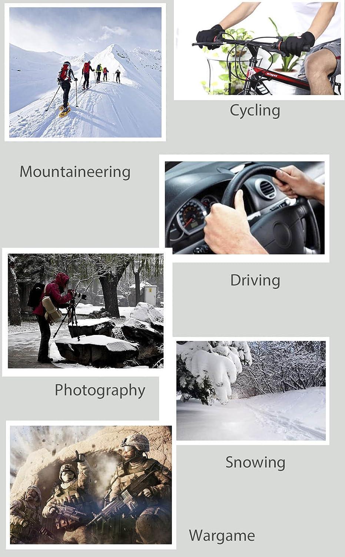 Guantes de invierno guante de esquí guante de la bicicleta Guantes Resistente al viento al aire libre Tocar la pantalla para Ciclismo Esquí Senderismo ...