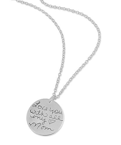 Amazon signature necklace signature pendant custom signature necklace signature pendant custom handwriting handwriting necklace personalized necklace memorial aloadofball Choice Image