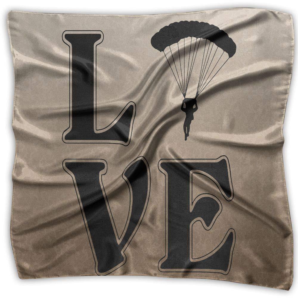 LOVE PARACHUTING-SKYDIVING Men Women Silky Scarf Scarf Shawl Bandana Wrap Scarf