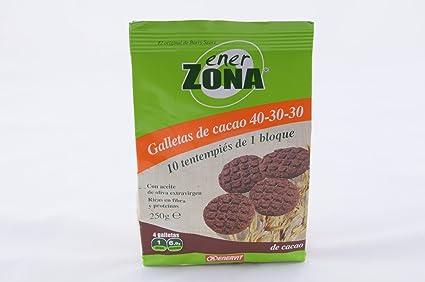 ENERZONA GALLETAS DE CACAO 250 G 40 U