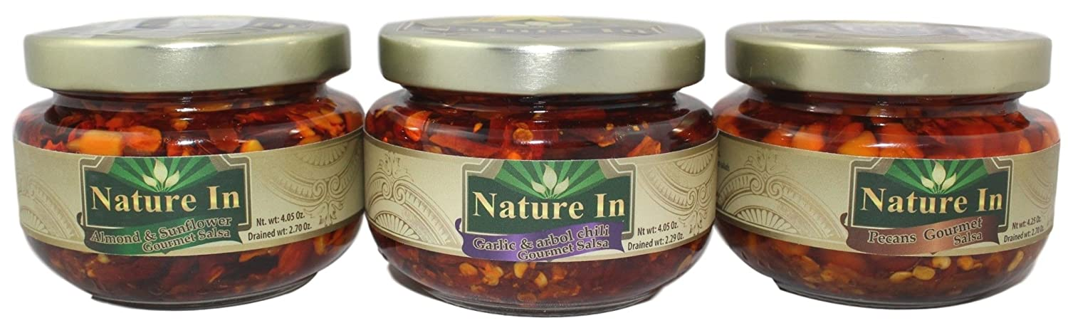 Amazon.com : Nature In Gourmet Salsa 4oz Glass Jar (Pack of 3) Sampler Pack with 1 of Each Flavor : Grocery & Gourmet Food