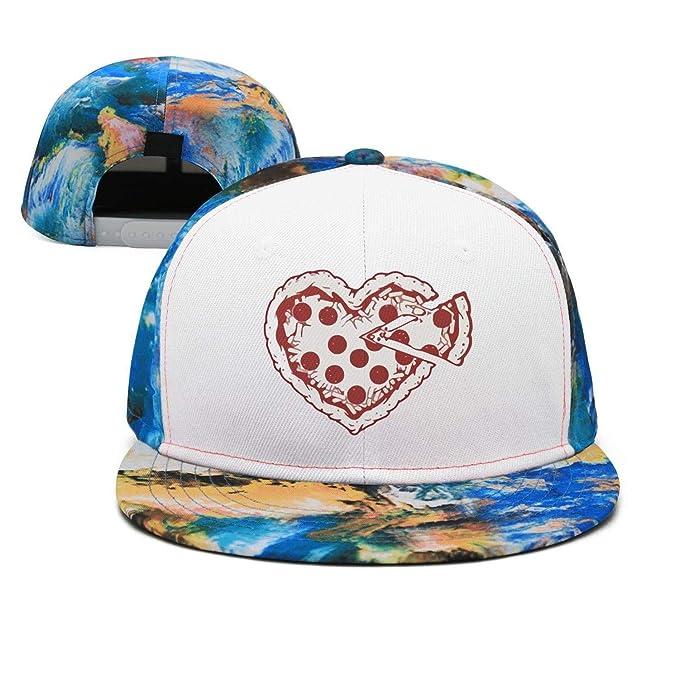 Wlpjsjkd Cute Pizza Heart Flat Funny Pride Visor Hats at Amazon ... db837e0af8c