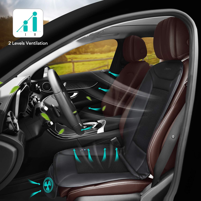 Coprisedile per seggiolino auto Naipo con funzione di riscaldamento e ventilazione e copertura traspirante portatile in rete 3D mesh per seggiolino auto per uso domestico uso stagionale