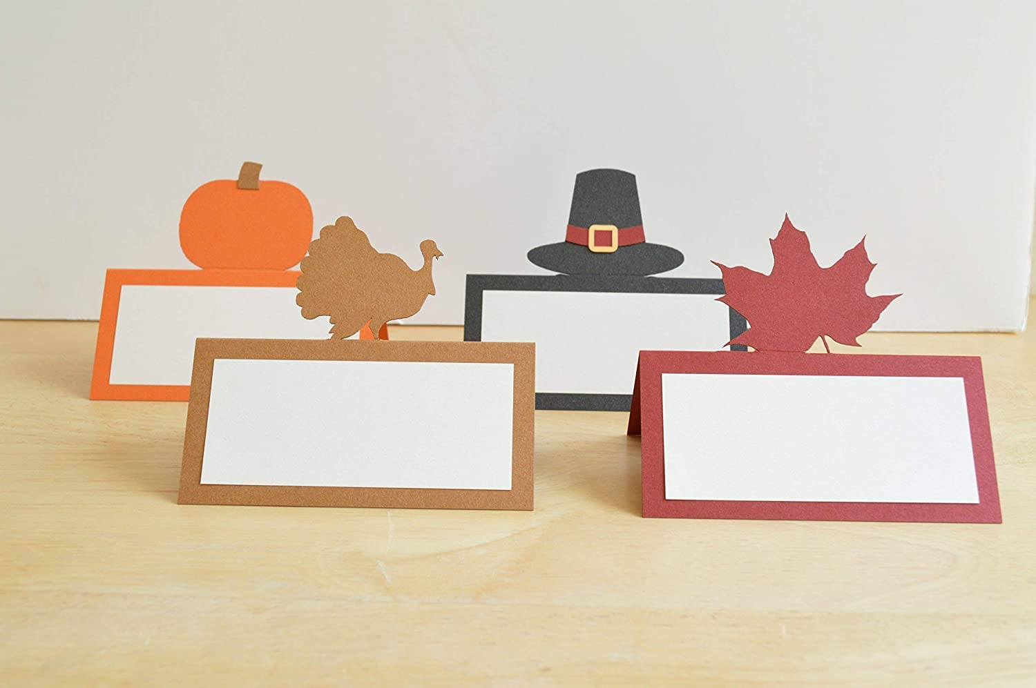 B016FM75DQ Thanksgiving Place Cards - Set of 12 71XNJEsvRdL