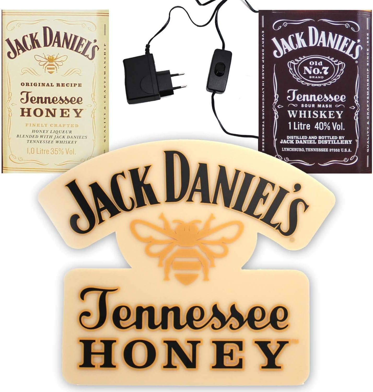 JACK DANIELS Coole Whiskey Leucht Reklame 36 cm Tennessee Honey Hängen Stellen ~mn 5h1r