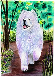 Caroline's Treasures SS8458GF Samoyed Flag Garden Size, Small, Multicolor