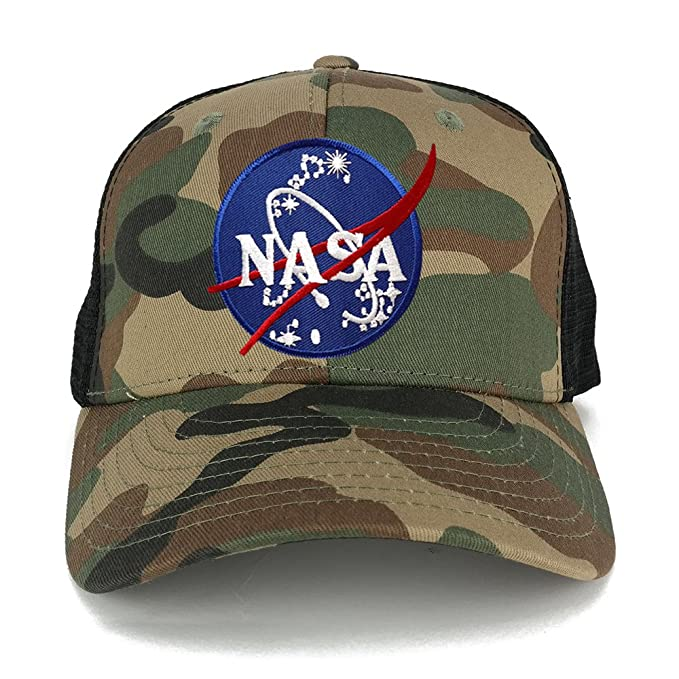 b6f5d8d93a7 NASA Insignia Space Logo Embroidered Iron on Patch Adjustable Trucker Cap -  WWB