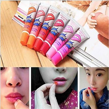 Wispun - Tinte labial impermeable de larga duración para mujer, 6 colores, efecto peel-off, brillo de labios, tatuaje labial