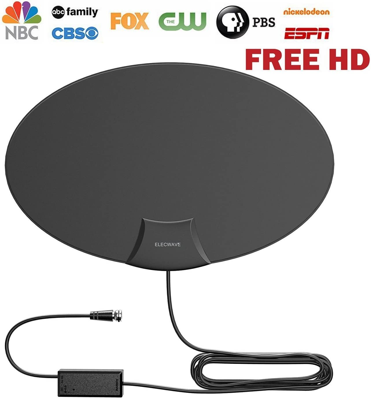 Elecwave HDTV Antenna 50 Miles Range Indoor Amplified Antenna
