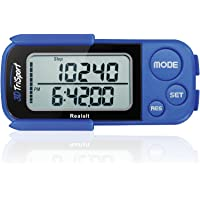 Realalt 3DTriSport Walking 3D Pedometer with Clip and Strap, Free eBook | 30 Days Memory, Accurate Step Counter, Walking…