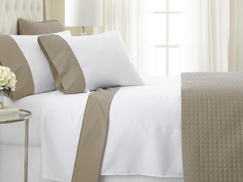 Southshore Fine Linens® - Vilano® Springs - 6 Inch Border - 4 Piece