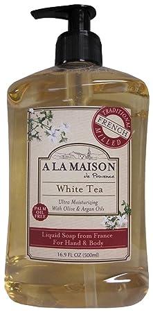 A La Maison de Provence Liquid Soap, White Tea, 16.9-Ounce Bottles Pack of 3