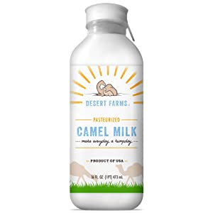 Organic Fresh Frozen Camel Milk - Fresh Flavor with Health Benefits - Raw & Natural Grade A - Gently Pasteurized from Healthy Camels in Midwest - Made In The USA [6 Pack]