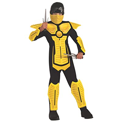 Child's Yellow Ninja Costume, Large: Toys & Games