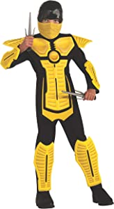 Child's Yellow Ninja Costume, Medium