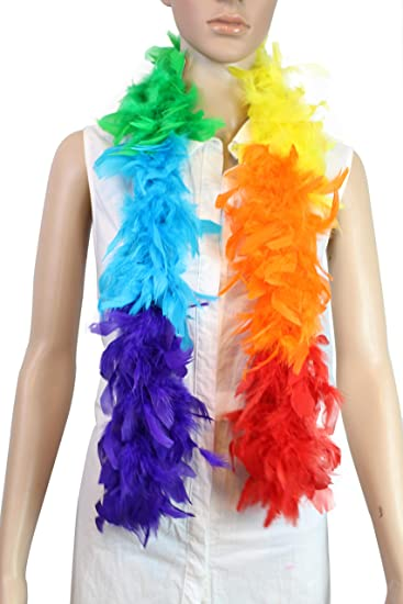 TURQUOISE w// LUREX Costume Boas//Costume//Halloween//Craft CHANDELLE FEATHER BOA