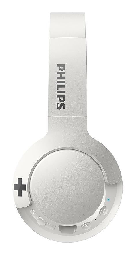 Philips SHB3075WT - Auriculares Inalambricos (Bluetooth, con micrófono, aislantes de Ruido, Plegables