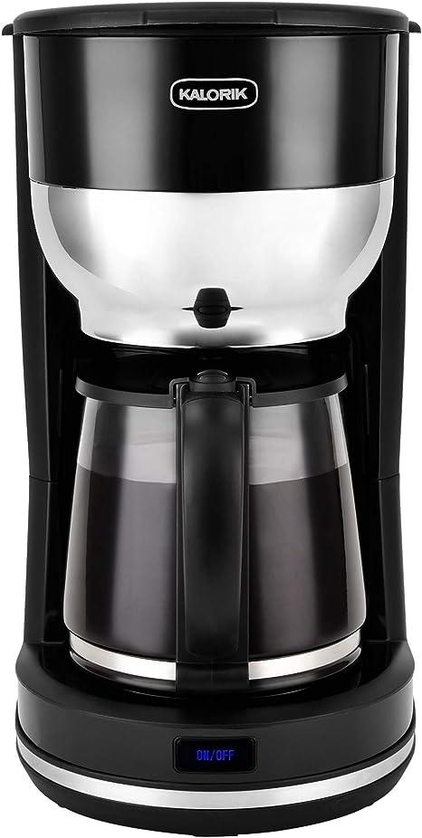 Amazon Com Kalorik 10 Cup Retro Coffee Maker Black Kitchen Dining
