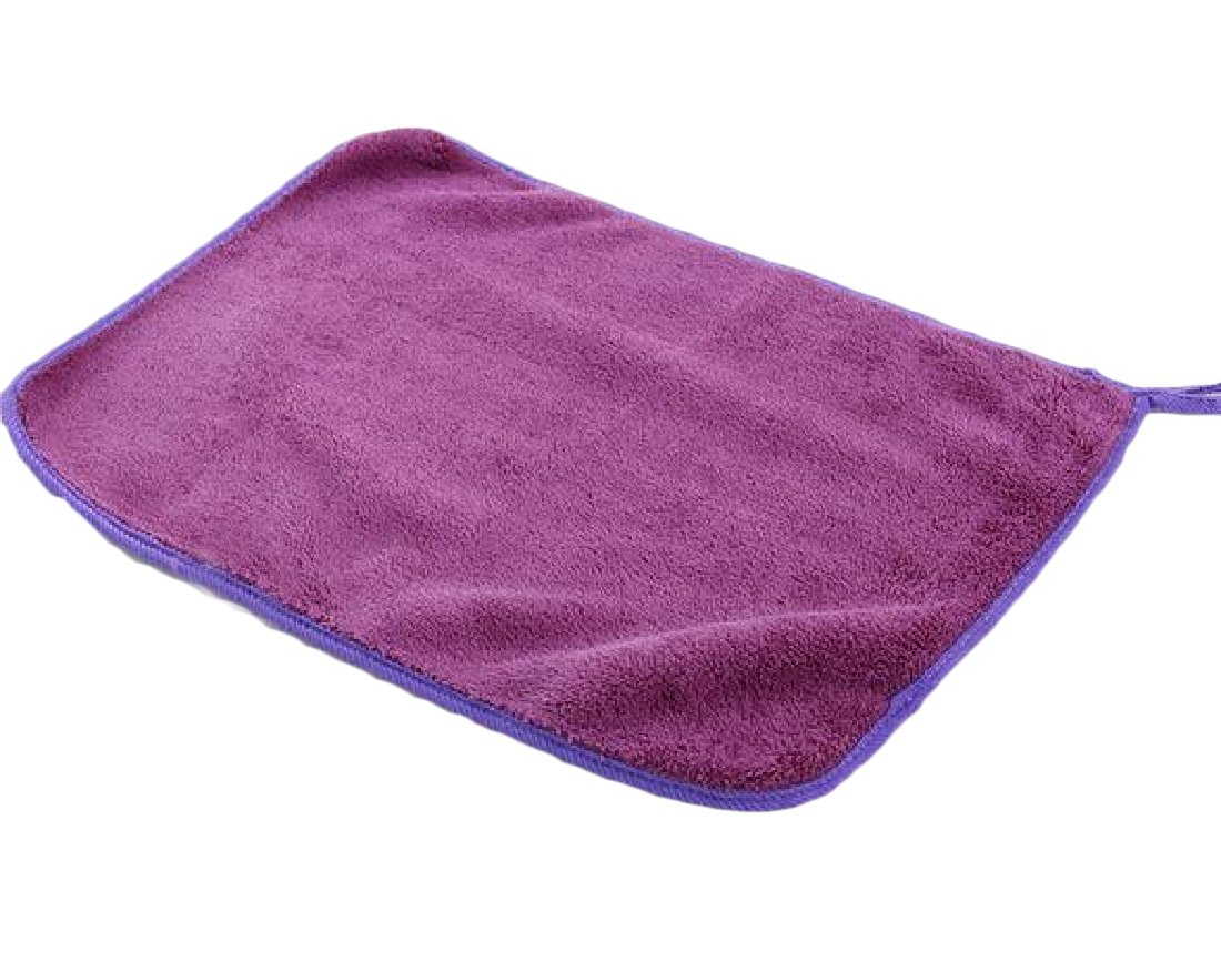 Winwinus Superfine Fiber Chenille Safely and Easily Multi-purpose Drying 12'' x 16'' Auto Cloth 3 Pack Purple OS