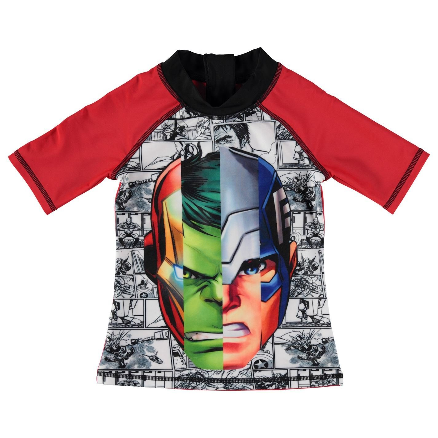 Marvel Avengers 2 Piece Swim Set Infant Boys Red//Blk Swimming Costume Beachwear