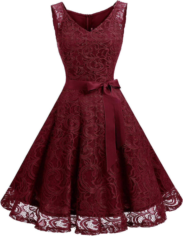Dressystar Brautjungfernkleid Ohne Arm Kleid Aus Spitzen