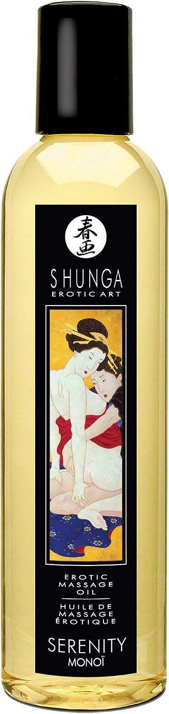 Shunga Aceite Masaje Serenity, MonoÏ, Color Amarillo Translúcido - 250 ml