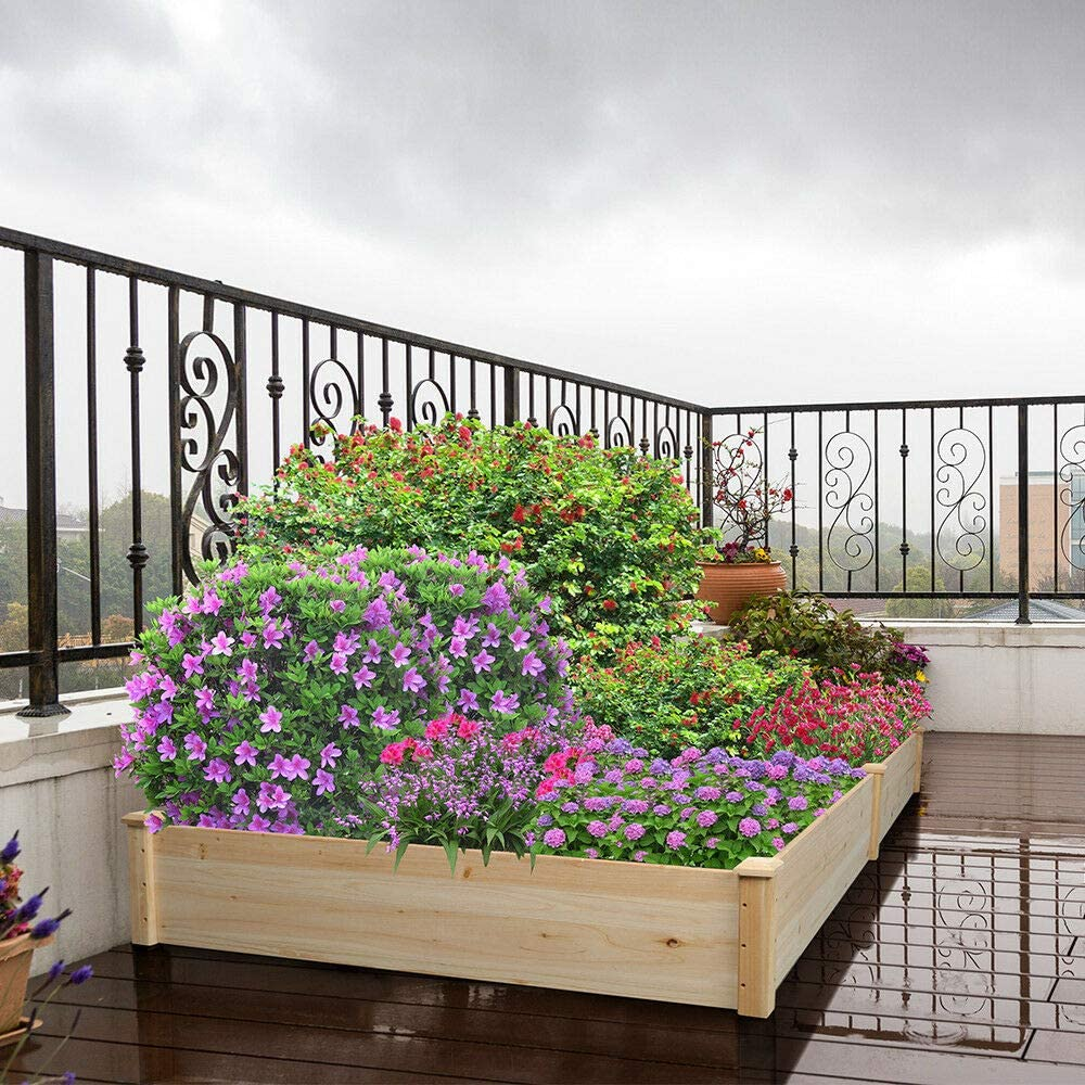 Amazon Com Antik Shop Corner Raised Elevated Garden Planter Bed