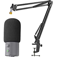 Razer Seiren X Boom Arm with Pop Filter - Mic Stand with Foam Cover Windscreen for Razer Seiren X Streaming Microphone…