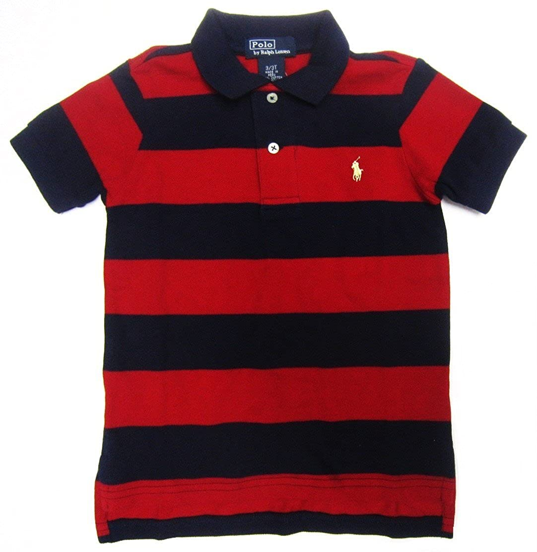 Amazon Polo Ralph Lauren Toddler Striped Polo Shirt In Red