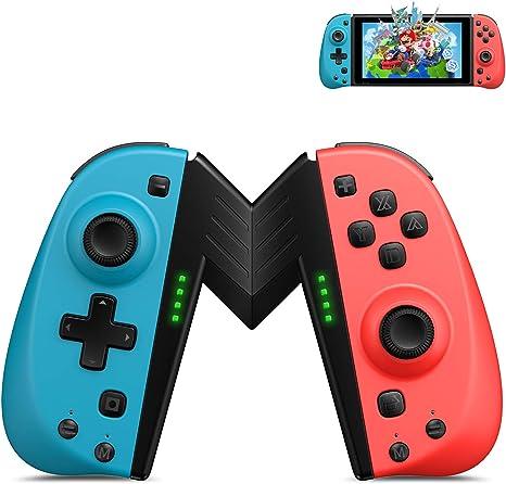 ECHTPower Mandos para Nintendo Switch, Bluetooth Wireless Gamepad, Botón Macro/Turbo/Vibración/Función de 6-Axis Giroscopio, Mando Reemplazo Izquierdo y Derecho para Joy con: Amazon.es: Electrónica