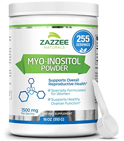 Myo-Inositol Powder 255 Servings | 18 Ounces (510 g) | 2000 mg per Serving  | Includes Free Scoop for Exact