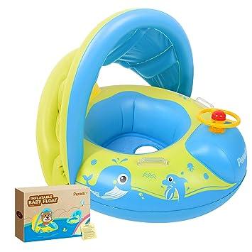 Amazon.com: Flotadores para bebés con toldo, juguetes de ...