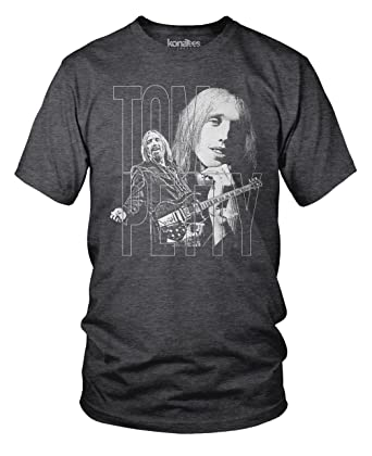 021839dc Tom Petty and the Heartbreakers, Memorial T-Shirt- (Hthr Charcoal) Medium
