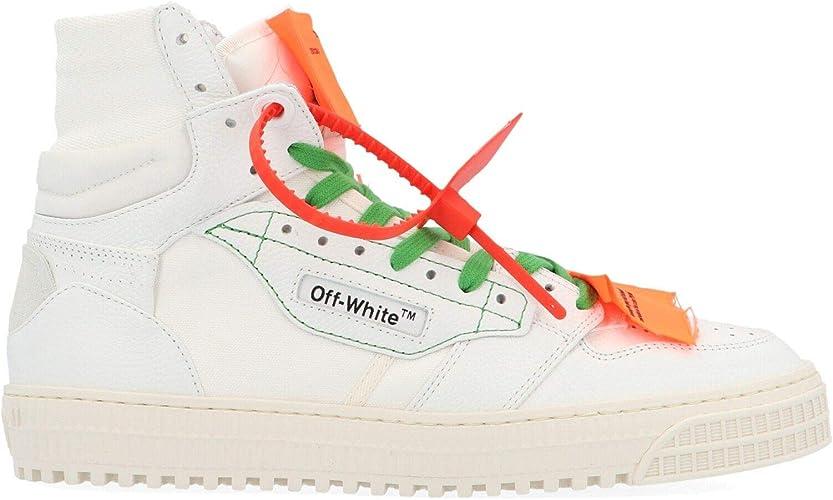 Off White Owia112e198000770100 Zapatillas Altas De Piel Blanca