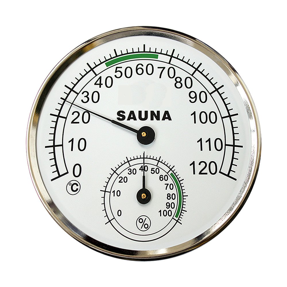 5-inch Dial Thermometer Hygrometer Metal Plastic Housing Sauna Room Hygro-thermometer szdealhola
