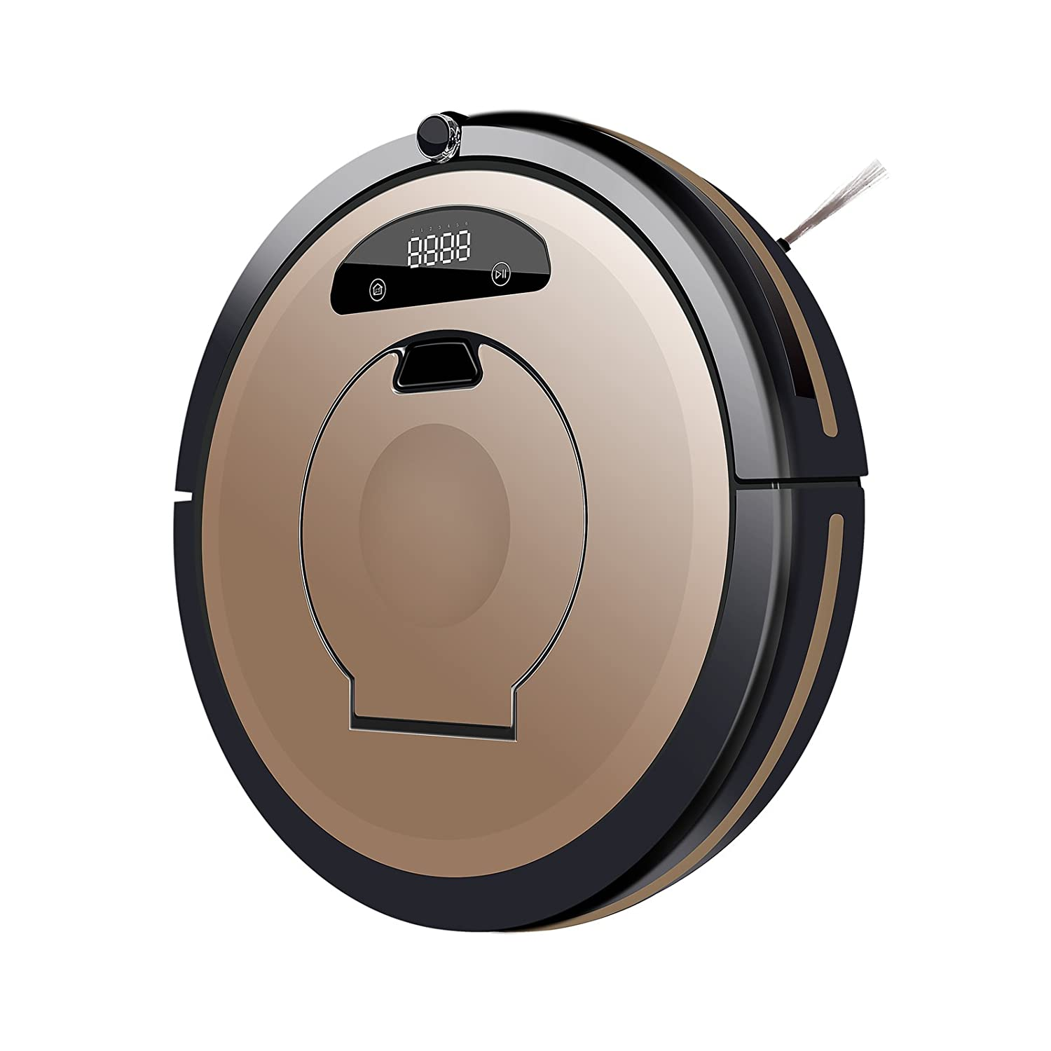Sedwin Robotic Vacuum Cleaner for Pets and Allergies Home Hand Vac Golden Remote Control Self Charging Cleaning Devices.