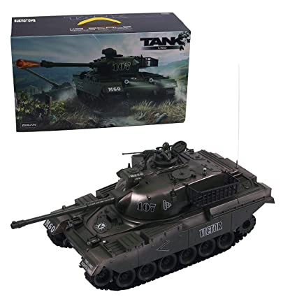 1:18 Remote Control Military Battle for Shooting BB Bullets Tank (M60-GREEN)