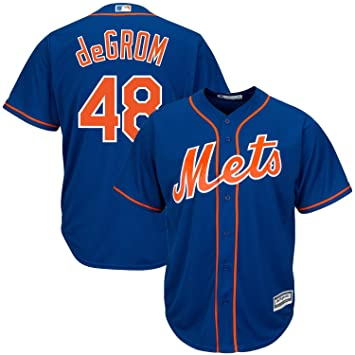 e04cf93d Majestic Jacob deGrom #48 New York Mets Cool Base MLB Jersey Alternate Home,  S