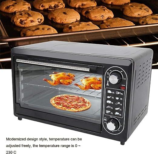 Zoternen 48L Horno Eléctrico 220V 2000W Horno Multifunción de Sobremesa para Hornear Doméstico 10 Modos 0~230 ℃ Temperatura Ajustable Negro 54x 36 x34 cm: Amazon.es
