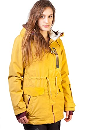 Billabong - Chaqueta de esquí para mujer, color dorado ...