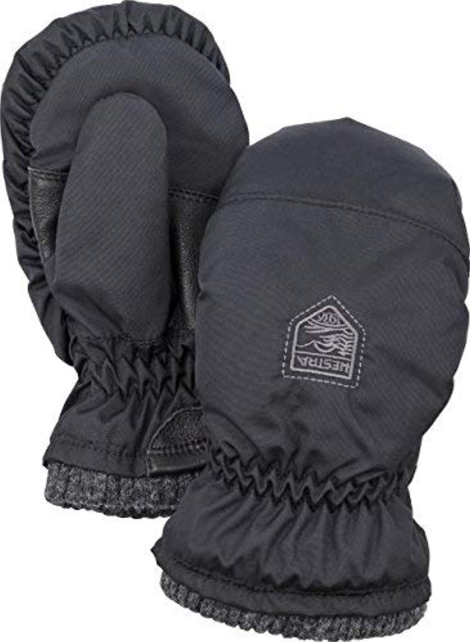 Winter Bundle: Hestra Youth My First Hestra - Mitts Black 1 & Knit Cap