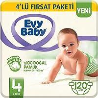 Evy Baby Bebek Bezi 4 Beden Junior 4'lü Fırsat Paketi 120 Adet