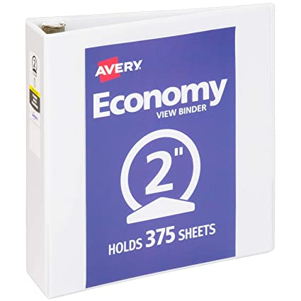amazon com avery 2 economy view 3 ring binder round ring holds