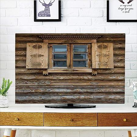 Tapa Antipolvo para televisor LCD, lanzadores, Ventana de Antigua Arquitectura en la Ciudad turística de Portugal, Naranja Azul, diseño de impresión 3D, Compatible con televisores de 32 Pulgadas: Amazon.es: Hogar