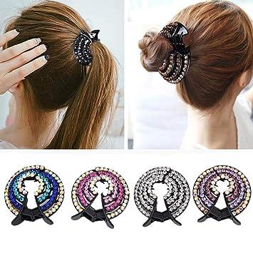 Fashion Hollow Cute Cat Hair Pin Imitation Pearl Hairpin Hair Side Clips UK