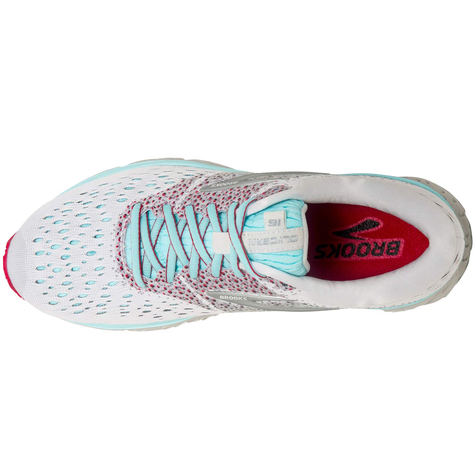 Brooks Women's Glycerin 16 White/Blue/Pink 5.5 B US by Brooks (Image #3)